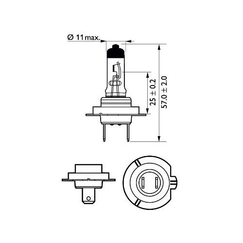 Narva HB3 12V/60W (USA 9005) halogeninė lempute (1vnt)