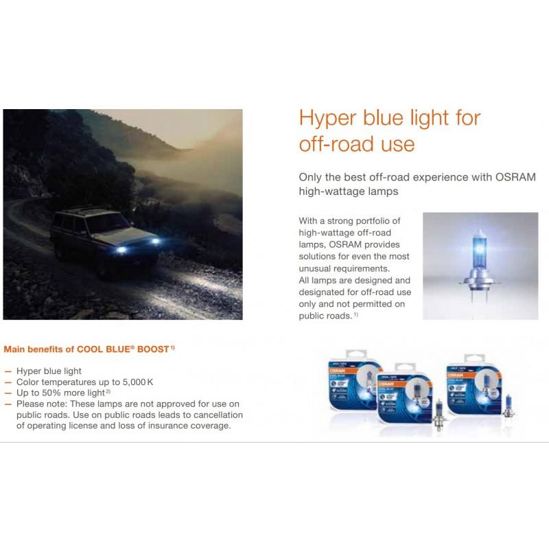 Osram H7 12V 80W 5000k Cool Blue Boost Halogeninės lemputės (2vnt)
