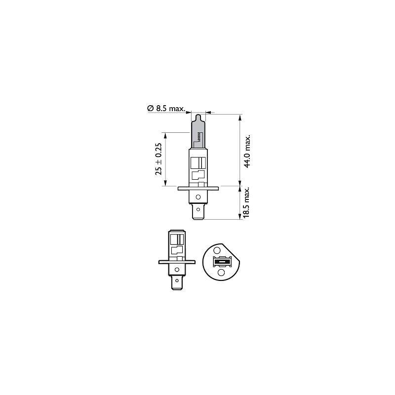 Philips H4 12V/60/55W +130% X-treme Vision lempute (1vnt)