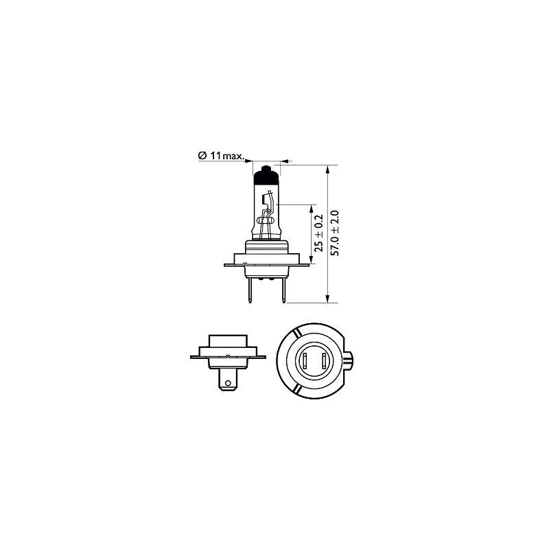 Bosch H1 12V/55W +50% Plus 50 LongLife lempute (1vnt)