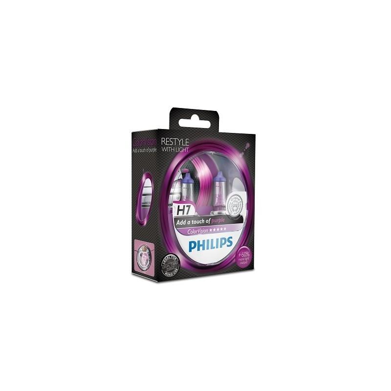 Philips H1 12V/55W +60% Philips White Vision lempute + W5W (2vnt)